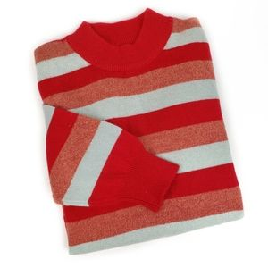 Girls Multicolor Striped Sweater